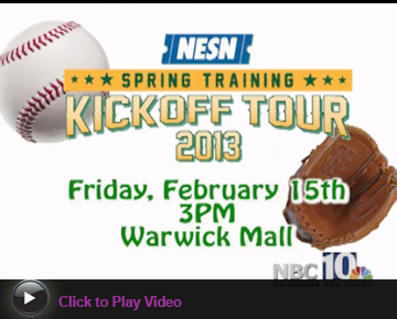 Join Jordan's Furniture at the Warwick Mall to kick-off Red Sox Spring Training!