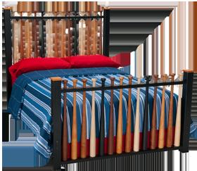 Autographed Baseball Bat Bed From Jordans Furniture