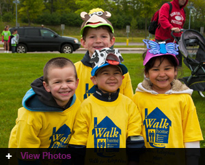 Young Walkers have their best smiles on for the event