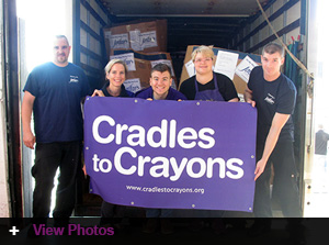 Cradles to Crayons Donation Delivery at Jordan's Furniture