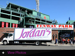 Jordan's Double Play Program delivers! Donated equipment delivered to Fenway for the Red Sox Foundation