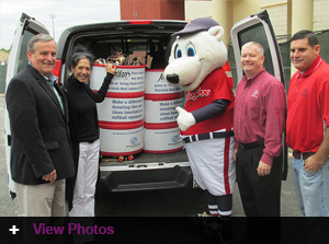 Pawtucket Red Sox and Jordan's Furniture team up for donations toward future baseball players!