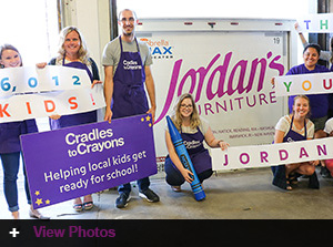 Jordan's Furniture donation to Cradles to Crayons® helps more than 6,000 children in need get ready for school from head to toe!