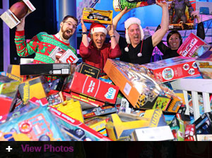 Over $109,000 raised at the 2017 Chaz & AJ Toy Drive December 15th at Jordan's New Haven, Long Wharf