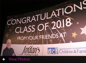 Jordan's Furniture honors graduates in foster care at Reading MA store event