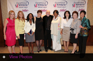 Eliot poses with all of the honorees in the 2011 Exceptional Women Awards.
