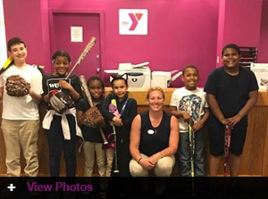 Jordan's Furniture partners with the New Haven YMCA Youth Center for the 2018 Double Play Youth Baseball Program