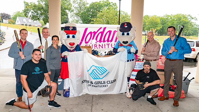 Jordan's Rhode Island Double Play Youth Baseball Program benefits the Boys & Girls Club of Pawtucket with partner the Pawtucket Red Sox