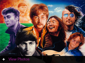 Jordan's Furniture hosts WZLX Beatles Classic Rock Art Show Jordan's Furniture Reading location/February 23rd through February 26th