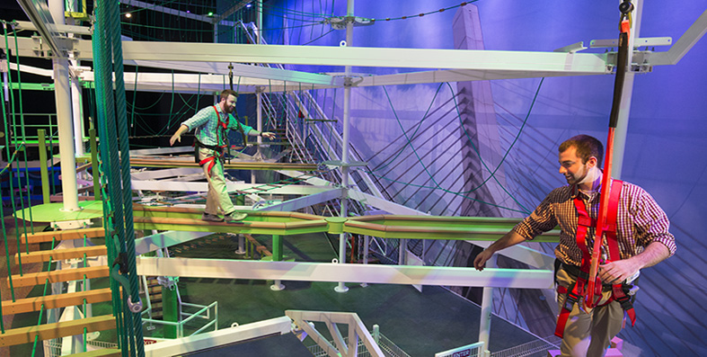 BeanStalk adventure ropes course at Jordan\'s furniture in Reading MA