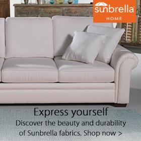 Sunbrella at Jordan's Furniture stores in MA, NH and RI