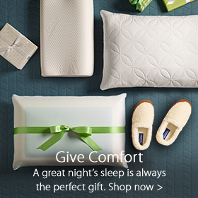Give Comfort with Sleep Lab accessories at Jordan's Furniture stores in MA, NH and RI