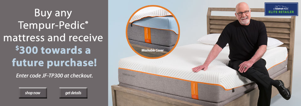 Tempur-Pedic Savings Event at Jordan's Furniture Sleep Lab stores in MA, NH, and RI
