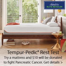 Tempur-Pedic Rest Test at Jordan's Furnture