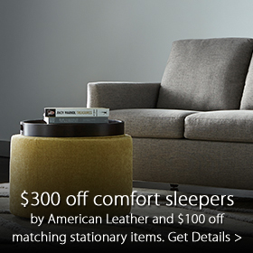 Now through September 29th, receive $300 off Comfort Sleepers by American Leather and $100 off matching stationary items