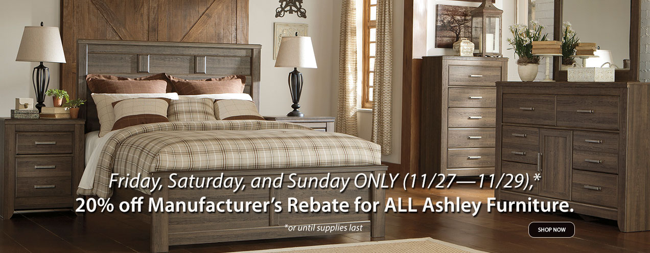 20% Ashley Manufacturer Rebate