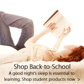 Back to school products for sale at Jordan's Furniture stores in MA, NH and RI