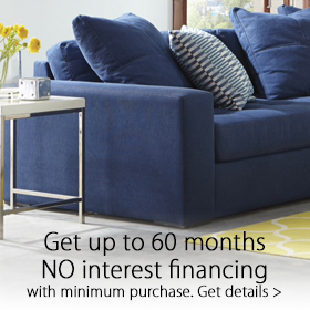 Get up to 60 months no interest financing at Jordan's Furniture stores in MA, NH and RI