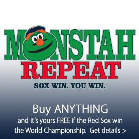 Sox Win, You Win. THe Monstah Repeat at Jordan's Furniture stores in MA, NH and RI