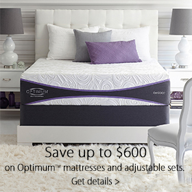 Save up to $600 On Optimum mattresses and Adjustable Sets at Jordan's Furniture stores in MA, NH and RI