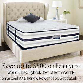 Simmons Savings Event - Save up to $600 on any Beautyrest iQ/Smartbed, World Class, Advanced Hybrid/Best of Both Worlds and Renew Powerbase at Jordan's Furniture stores in MA, NH and RI