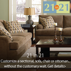 21 in 21 custom fabrics available at Jordan's Furniture stores in MA, NH and RI