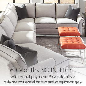 Get up to 60 Months No interest financing at Jordan's Furniture stores in CT, MA, NH and RI