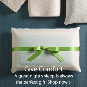 Give Comfort…A great night's sleep is always the perfect gift at Jordan's Furniture stores in CT, MA, NH and RI
