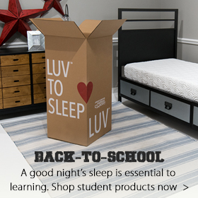 Back to School sleep products at Jordan's Furniture stores in CT, MA, NH and RI