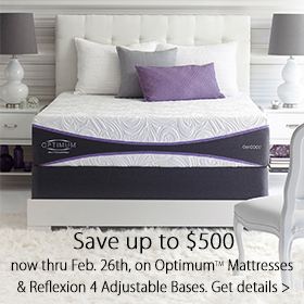 Save up to $500 on Sealy Optimum and Reflexion Power Bases at Jordan's Furniture stores in CT, MA, NH and RI
