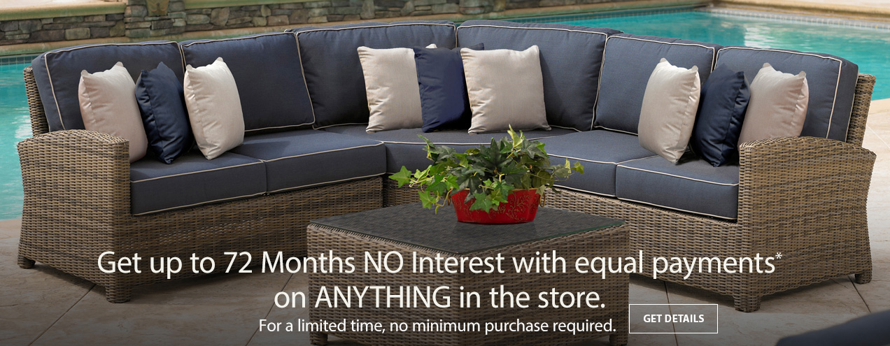 Get up to 72 months No Interest with equal payments at Jordan's Furniture stores in CT, MA, NH, and RI