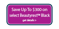 Save up $300 on Beautyrest Black Mattresses and receive a free sleep tracker.