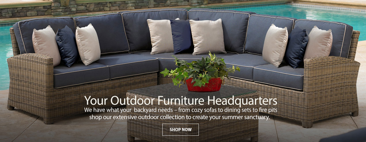 Your Outdoor furniture headquarters - at Jordan's Furniture stores in CT, MA, NH, and RI