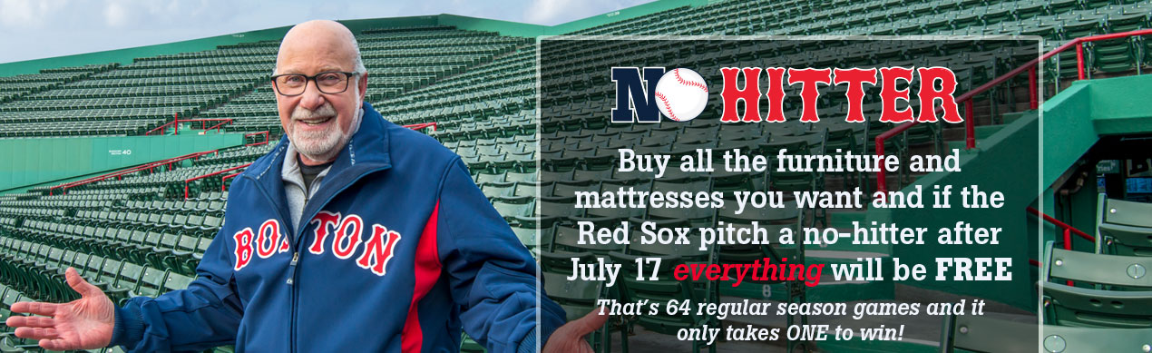 No Hitter - Free Furniture and Mattresses at Jordan's Furniture stores in CT, MA, NH and RI