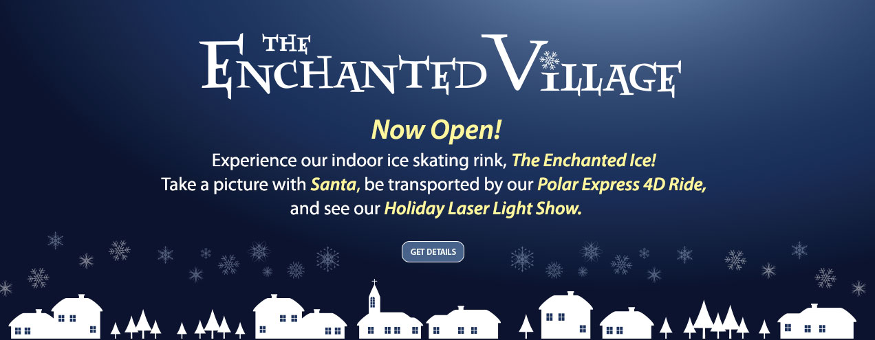 Enchanted Village is now open at Jordan's Furniture in Avon, MA