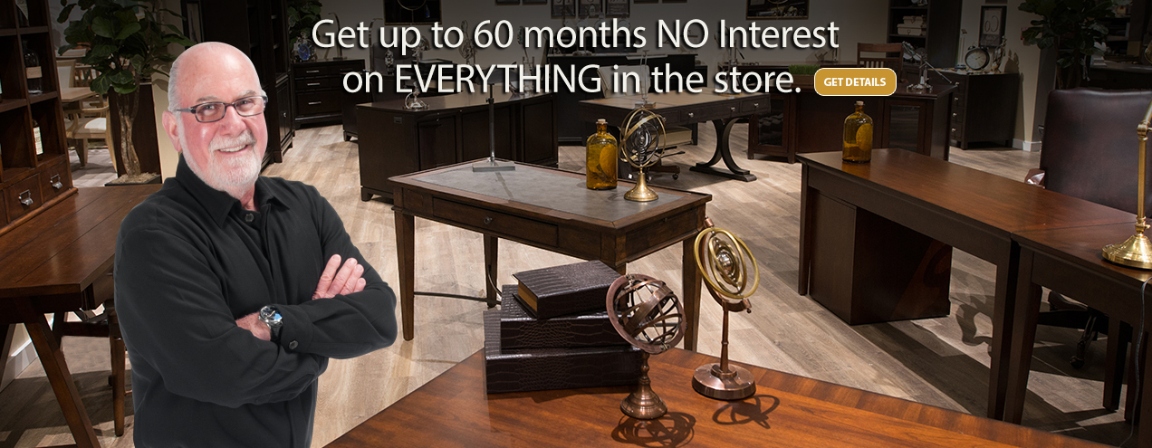 Get up to 60 Months NO interest on everything at Jordan's Furniture stores in MA, NH, CT and RI