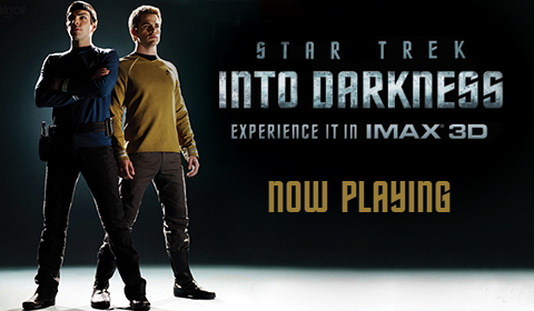 Star Trek: Into Darkness in IMAX at Jordan's Furniture in Natick and Reading