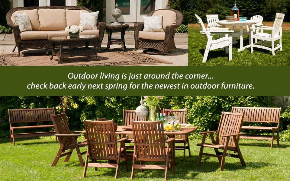 Outdoor Living is just around the corner at Jordan's Furniture!