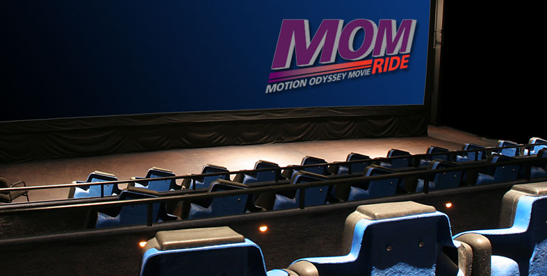 MOM Motion Odyssey Movie ride at Jordan's Furniture in Avon, MA