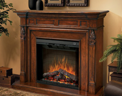 Accent fireplaces for sale at Jordan's Furniture stores in MA, NH and RI