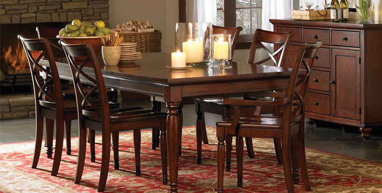 Dining room furniture for sale at Jordan's Furniture stores in MA, NH and RI