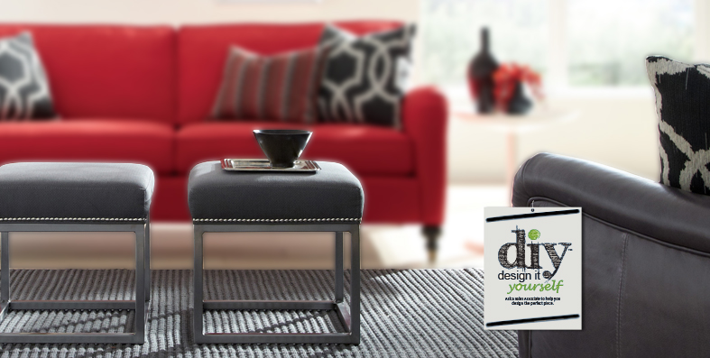 Design it Yourself at Jordan's Furniture stores in CT, MA, NH, and RI