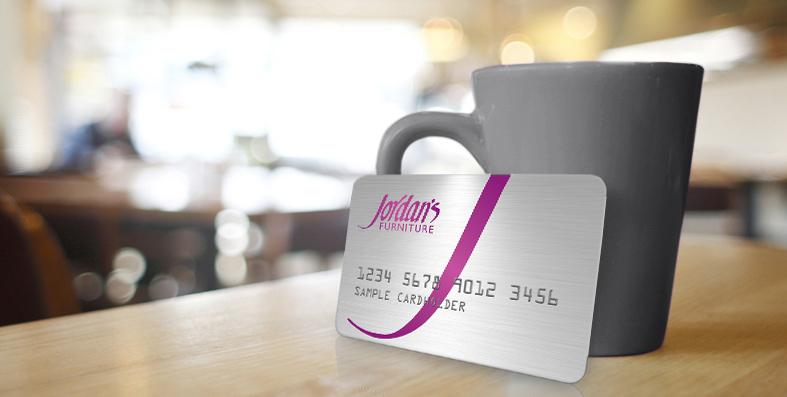 jordans furniture credit card