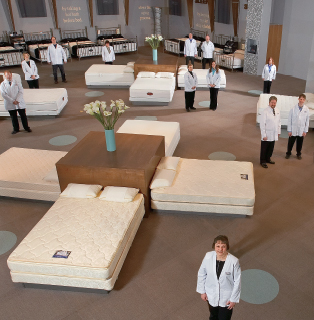 Sleep Lab at Jordan's Furniture stores in MA, NH, and RI