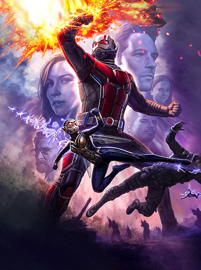 Ant-Man and the Wasp in the Sunbrella IMAX 3D movie theaters at Jordan's Furniture in Natick and Reading Ma