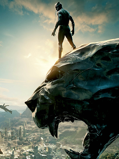 Marvel's Black Panther in the Sunbrella IMAX 3D movie theaters at Jordan's Furniture in Natick and Reading Ma