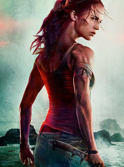 Tomb Raider in the Sunbrella IMAX 3D movie theaters at Jordan's Furniture in Natick and Reading Ma